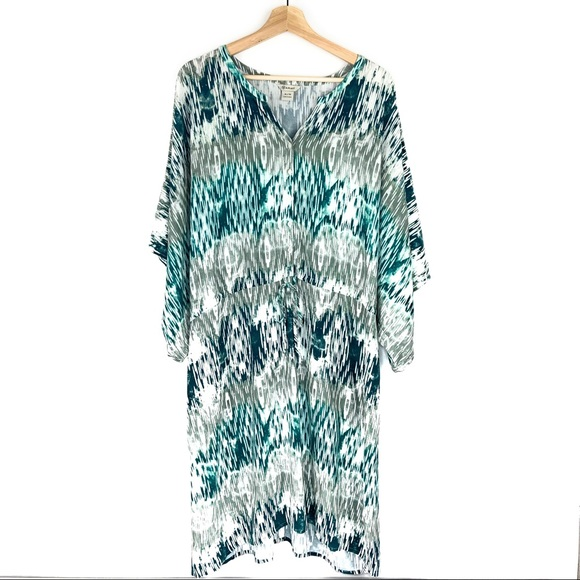 Ariat Other - Ariat Beach Dress in Blue and Green Ikat